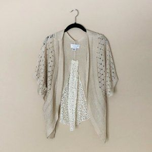 Anthropologie The Cue Cher Qu Lace Cardigan